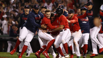 The Boston Red Sox celebrated their qualification to the Championship Series