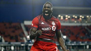 El jugador Jozy Altidore celebra un gol con el Toronto FC.