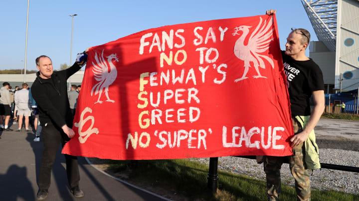 Die Pläne für die Schaffung einer Superliga provozierten auch in England zahlreiche Fan-Proteste