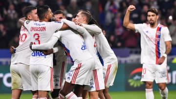 La joie des Lyonnais lors de la victoire face à Monaco (2-0).