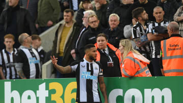 Newcastle's loss to Spurs was temporarily suspended while Alan Smith received medical attention