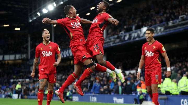 Watford oyuncularının gol sevinci