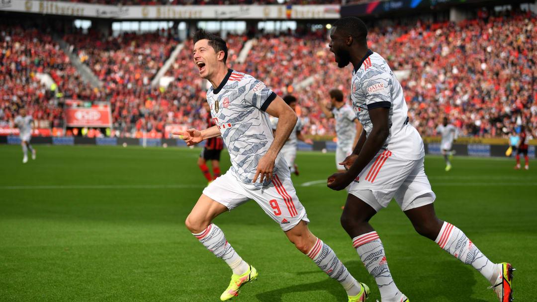 Robert Lewandowski schoss gegen Leverkusen seine Saisontore acht und neun.