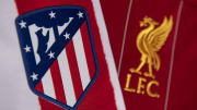 The Atletico Madrid and Liverpool FC Club Badges