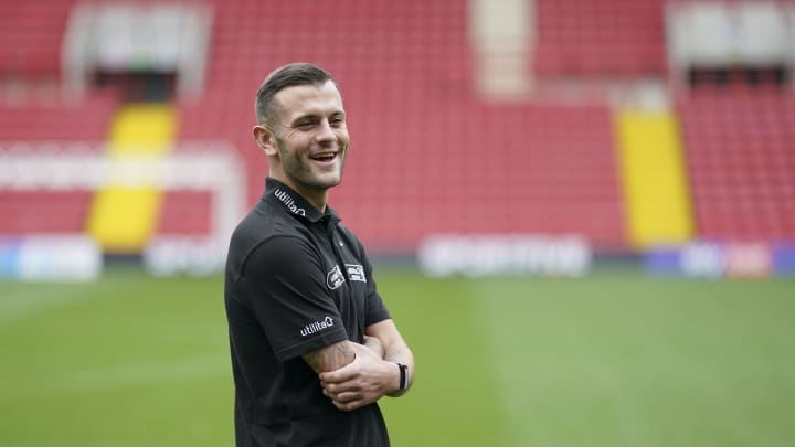Jack Wilshere was in good spirits at the launch of the Utilita Kids and Girls Cup