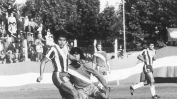 Maradona, el día de su debut en Primera.