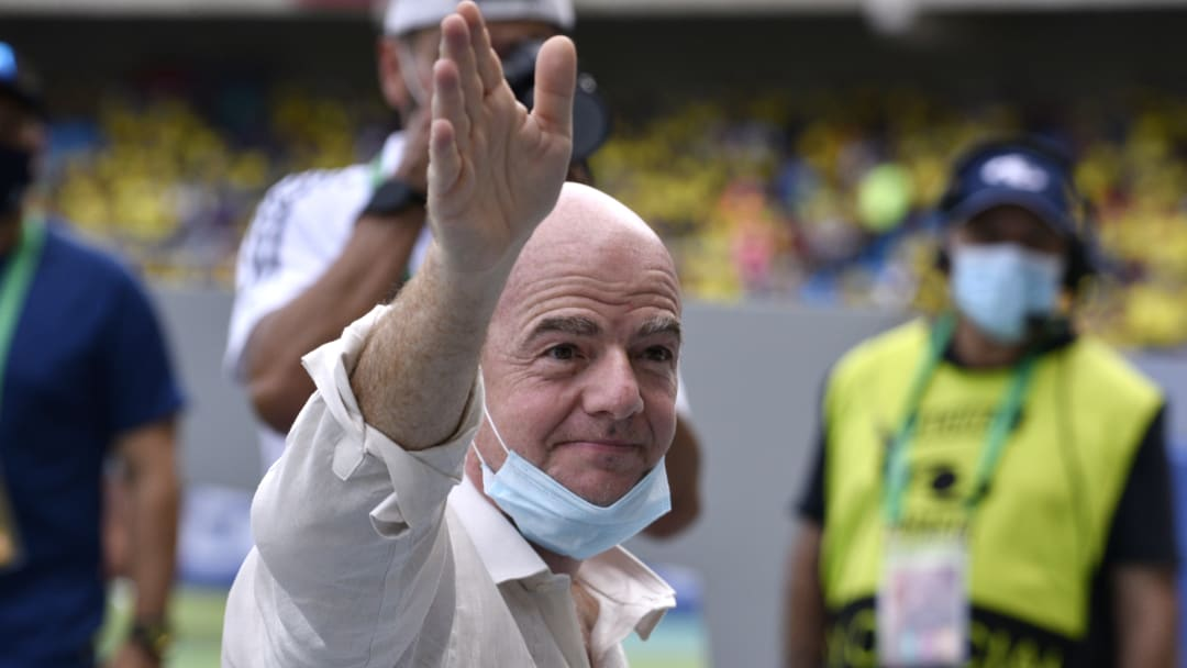 Infantino has discussed the prospect of biennial World Cups