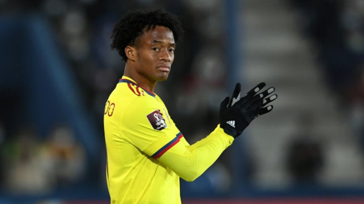 Juan Guillermo Cuadrado will return to the Colombian squad after serving his penalty for accumulating yellow cards