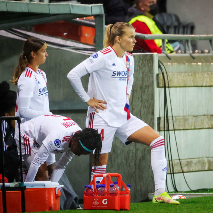 Hegerberg came off the bench for her first minutes in 20 months as Lyon faced Hacken in the Women's Champions League