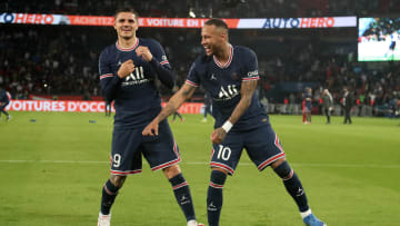 Neymar e Mauro Icardi se ausentaram no último compromisso do Paris Saint-Germain
