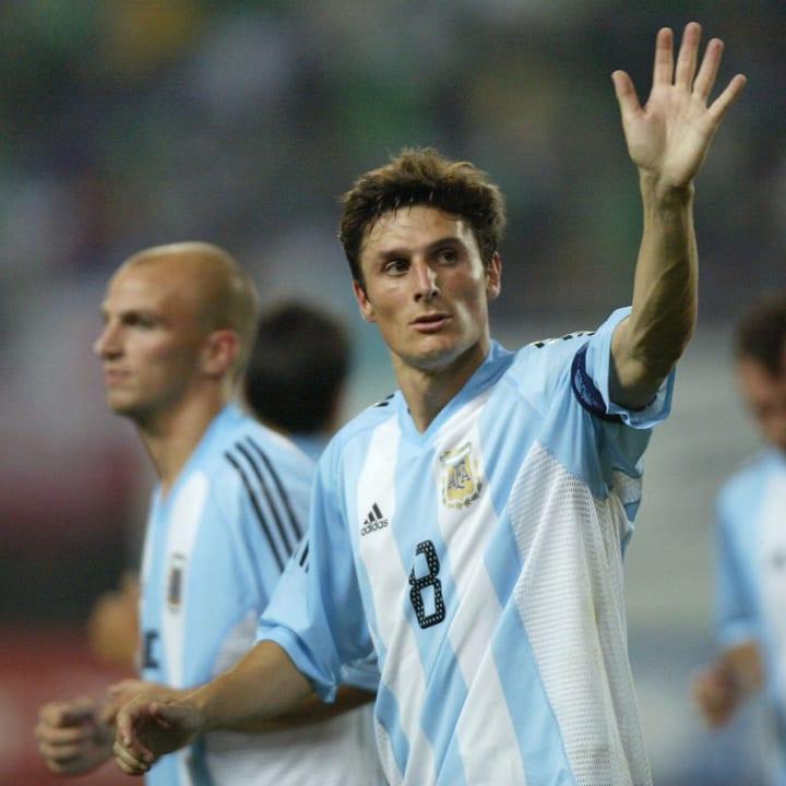 Javier Zanetti, camisa 8 da seleção argentina