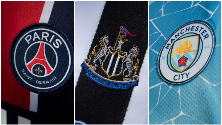Paris Saint Germain, Newcastle, Manchester City ปารีส แซงต์-แชร์กแมง, นิวคาสเซิล, แมนเชสเตอร์ ซิตี้
