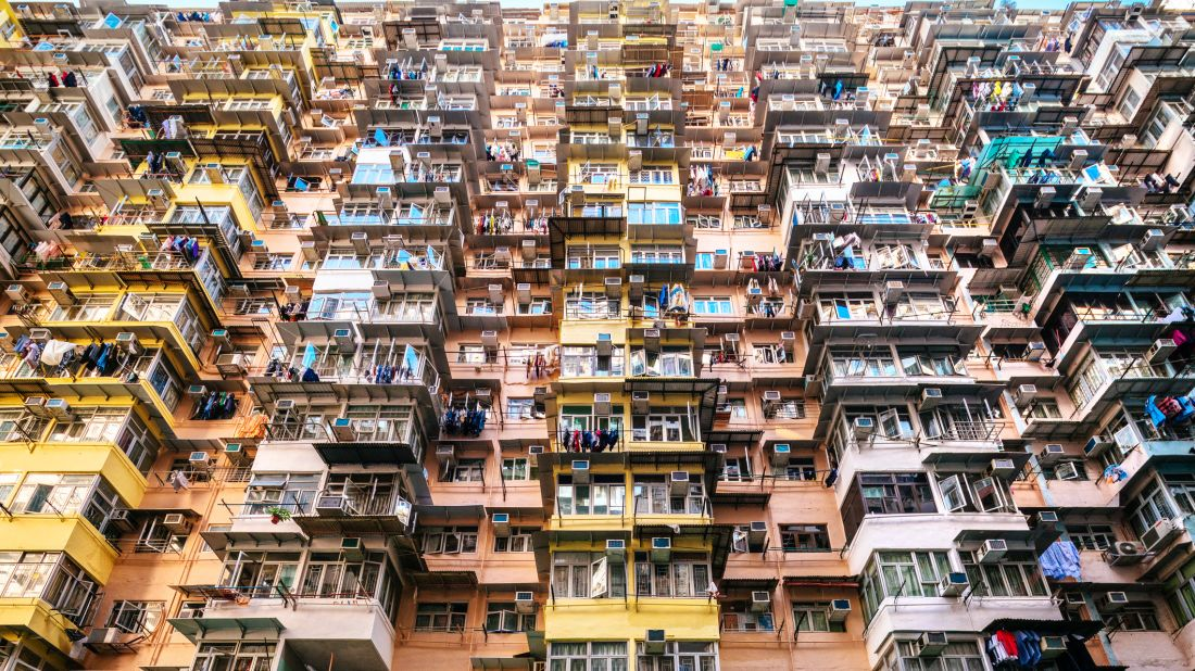 An apartment complex in Hong Kong