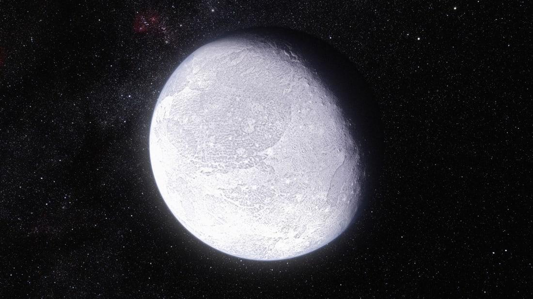 An artist's rendering of the dwarf planet Eris