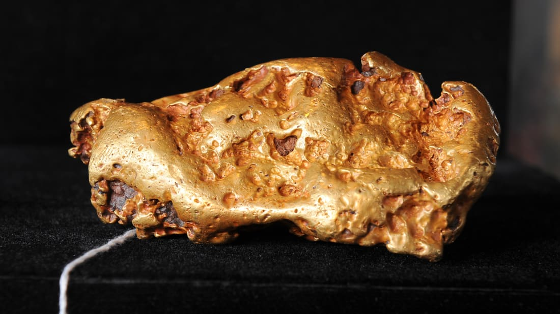 This 6.5-pound gold nugget was sold at auction in 2010.