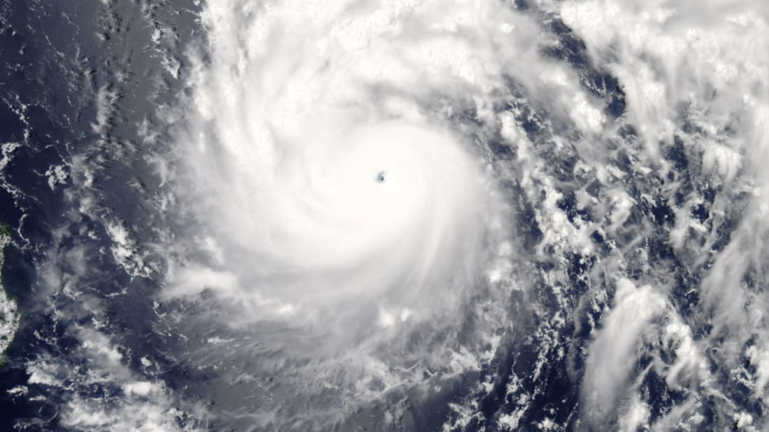 Typhoon Nepartak swirling over the Pacific Ocean on July 6, 2016
