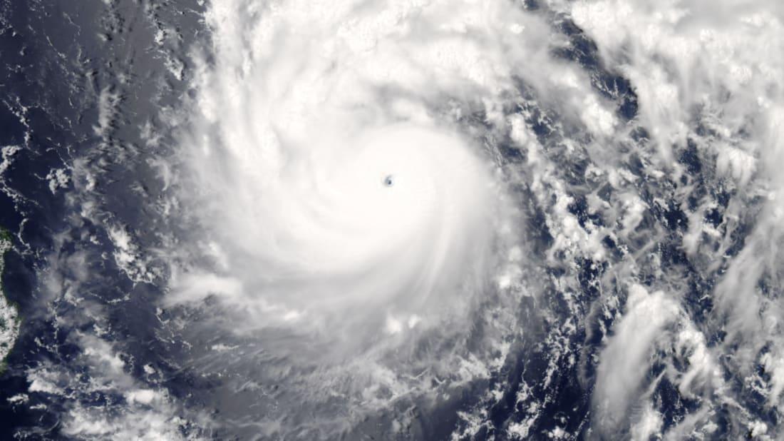 Typhoon Nepartak swirling over the Pacific Ocean on July 6, 2016
