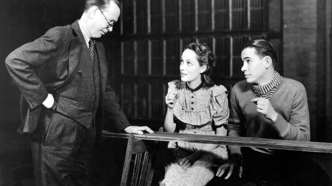 Frank Craven (left), Martha Scott, and John Craven in the original Broadway production of Our Town.