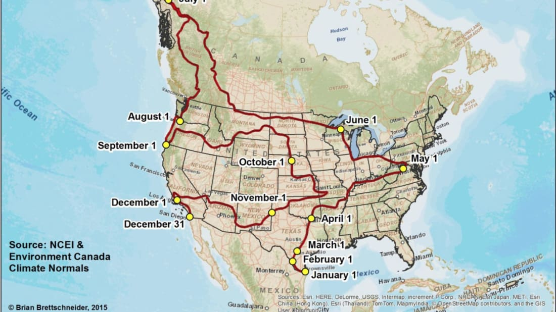This Road Trip Puts You in Blissful 70°F Weather for a Full ... Map A Road Trip on a united states map, love map, awesome map,