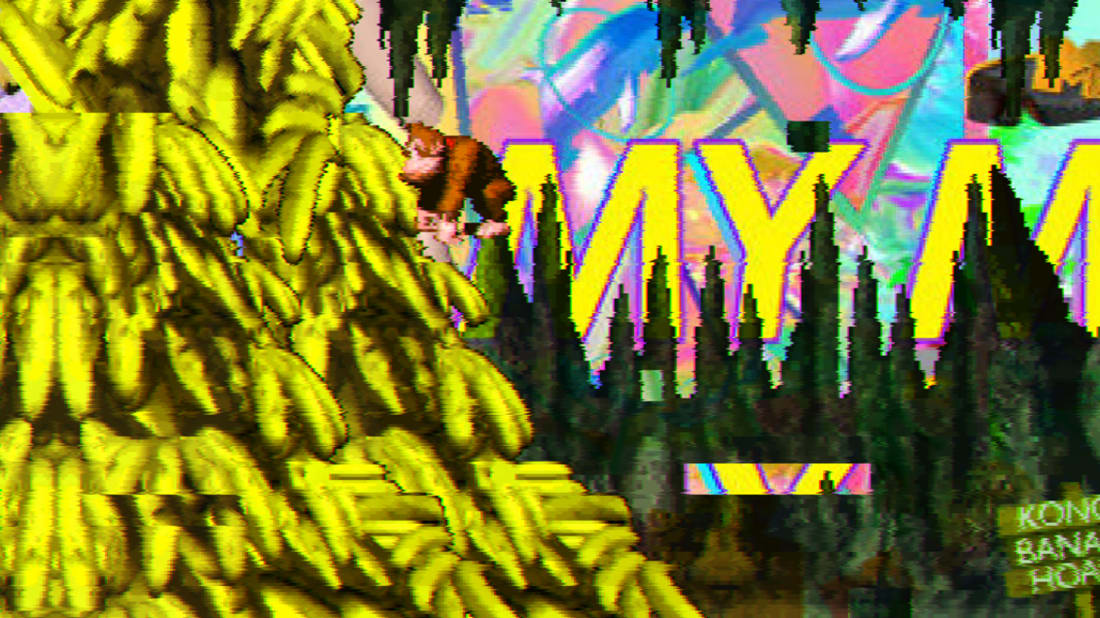 Donkey Kong Country gets trippy in this vaporwavehomage.