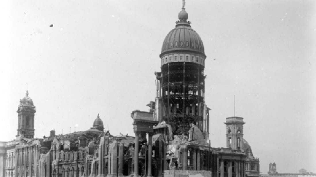 City Hall Ruins. Image credit: OpenSFHistory
