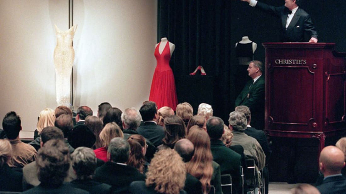 "Mariyln Monroe's ""Happy Birthday, Mr. President"" dress. Image credit: DOUG KANTER // Getty Images"