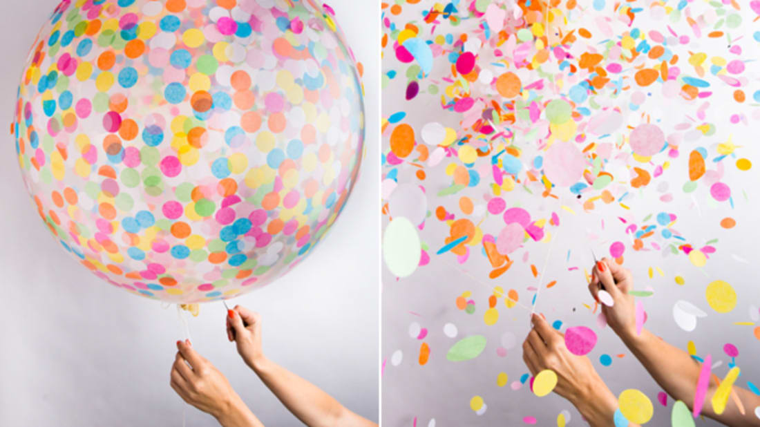 Confetti Balloons Are Two Party Decorations in One | Mental Floss