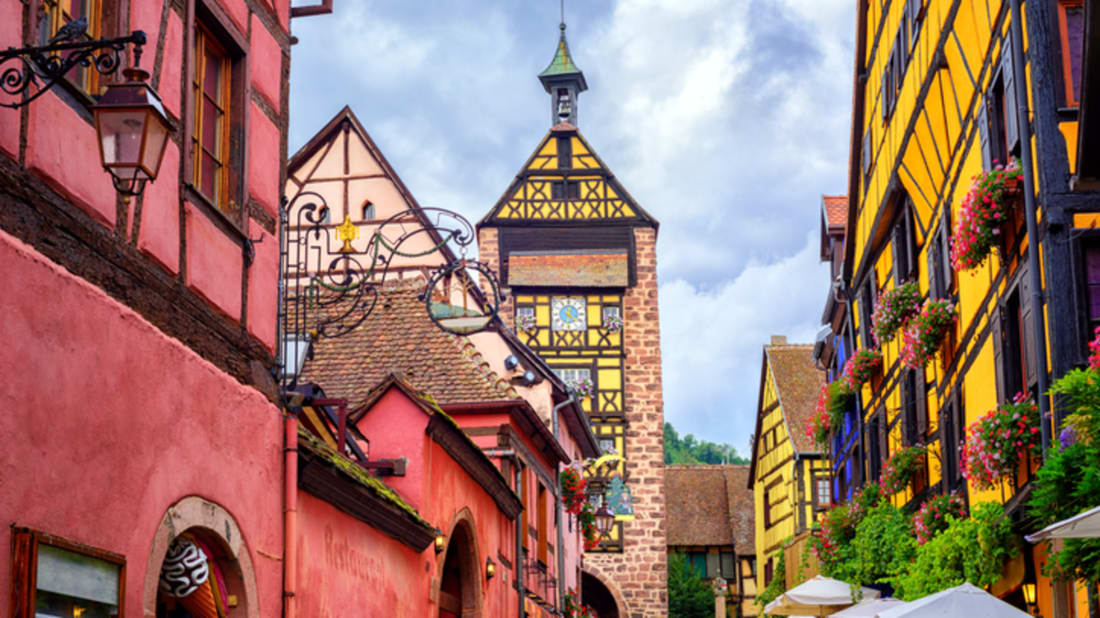 Dolder Tower in Riquewihr, France. iStock