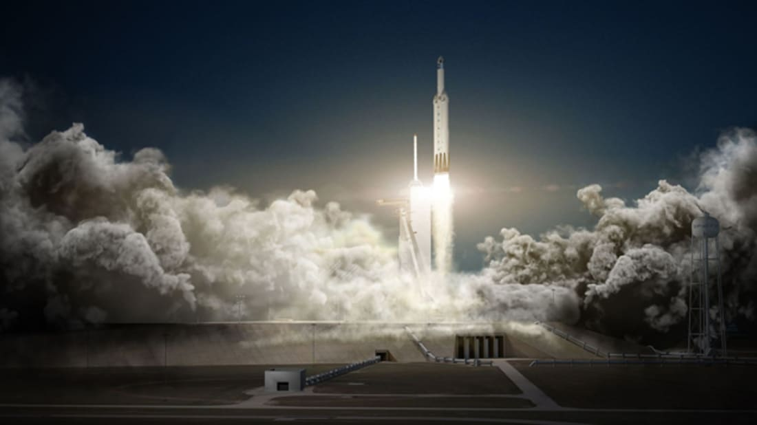 Falcon Heavy and Dragon. Image credit: SpaceX via Wikimedia Commons // CC0 1.0