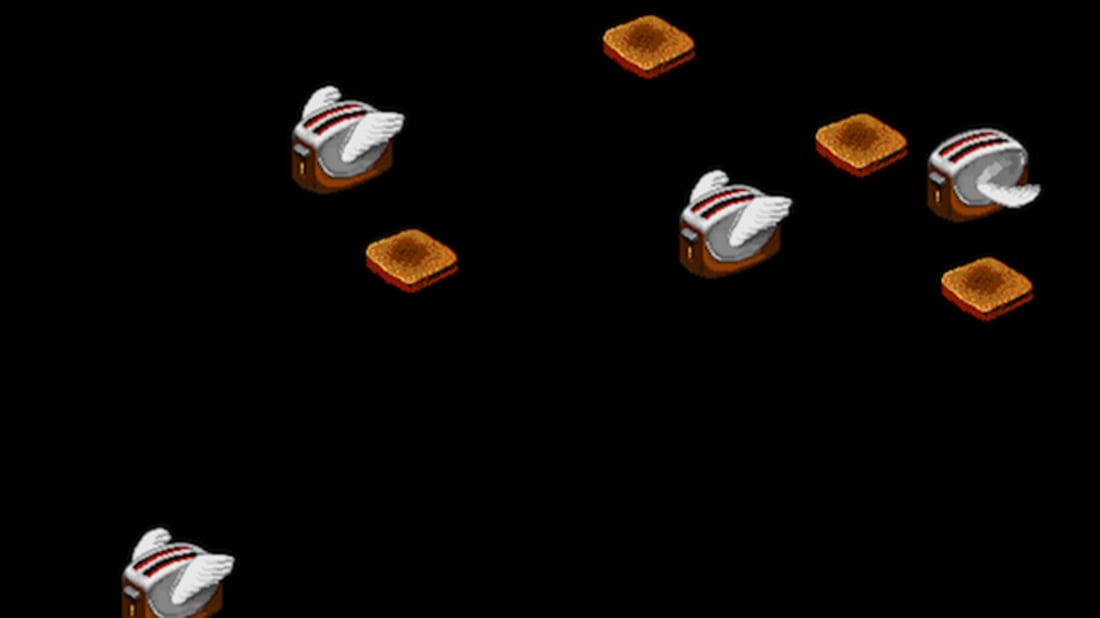 Screensaver After Dark, Flying Toasters