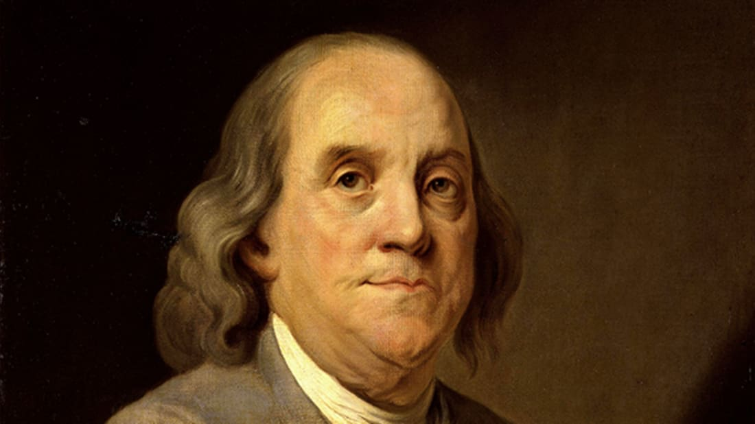 Portrait of Benjamin Franklin by Joseph Duplessis via Wikimedia Commons // Public Domain