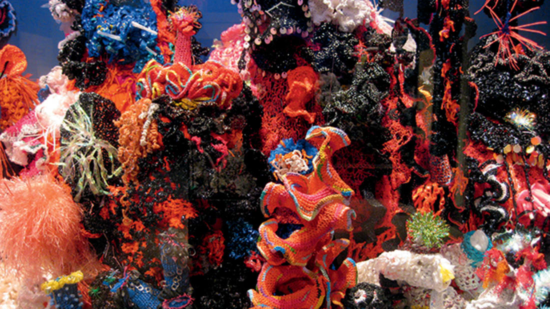 Crochet Coral Reef project by Margaret and Christine Wertheim and the Institute For Figuring, 2005-ongoing. Photo © Institute For Figuring