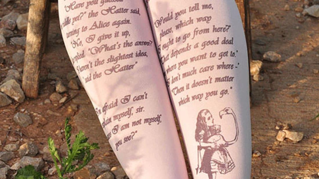 Lewis Carroll, Alice's Adventures in Wonderland. Image credit: TightsShop