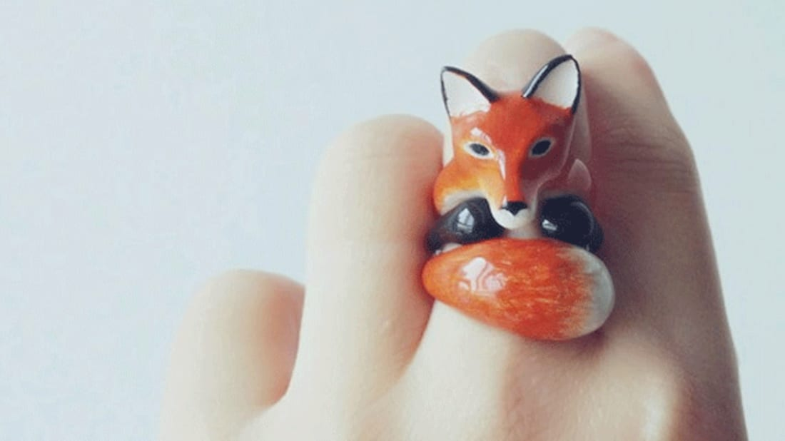 Three-Piece Animal Rings Hug Your Finger When Worn Together