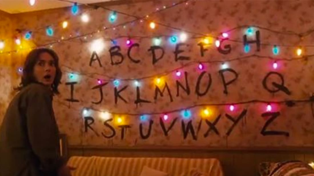 Stranger Things Christmas Lights.Send Your Friends A Stranger Things Inspired Christmas