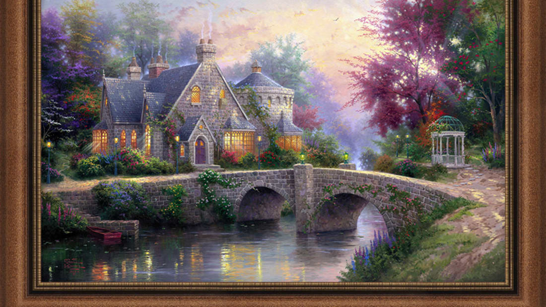 Excellent 11 Illuminating Facts About Thomas Kinkade Mental Floss Home Interior And Landscaping Ologienasavecom