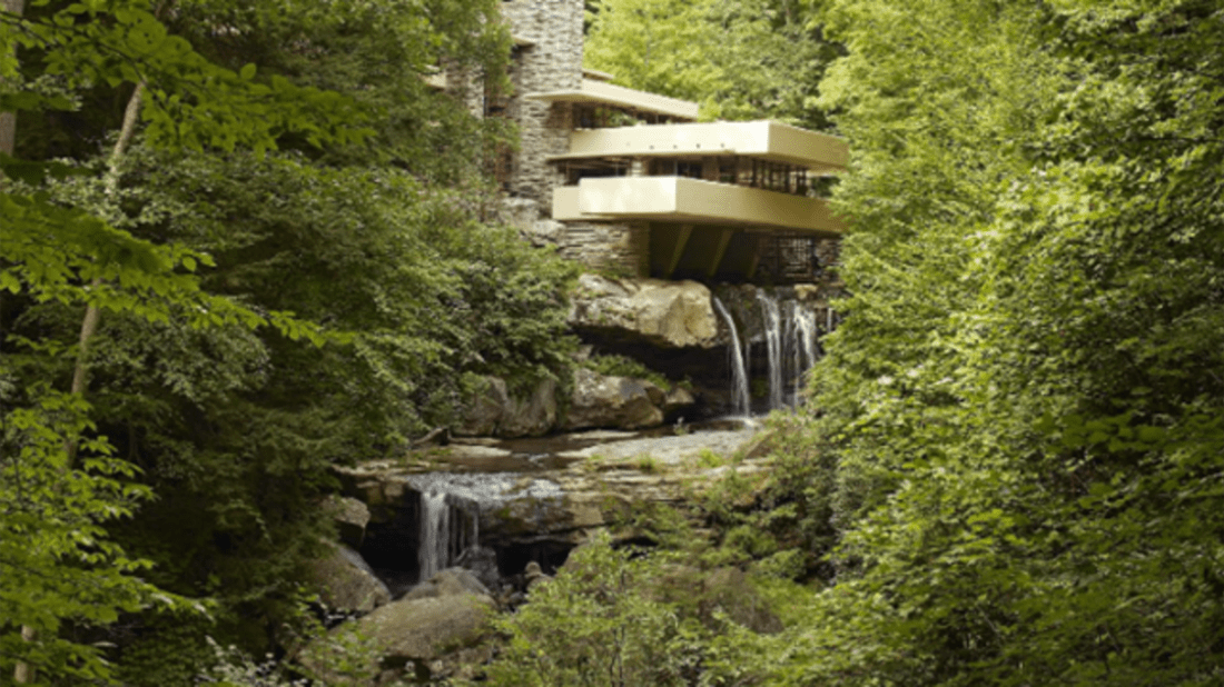 Frank Lloyd Wright's Fallingwater. Image Credit: Carol M. Highsmith via Wikipedia // Public Domain