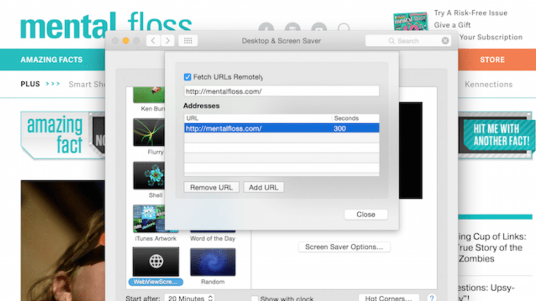 You Can Now Use Any Website as a Screensaver | Mental Floss