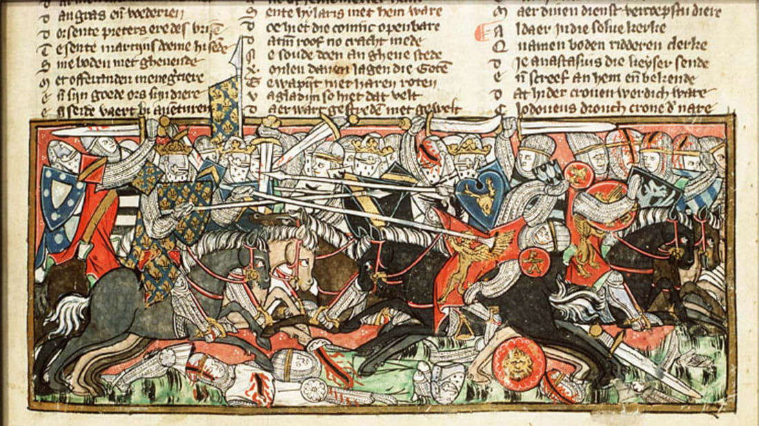 Battle Between Clovis and the Visigoths // National Library of the Netherlands, Public Domain