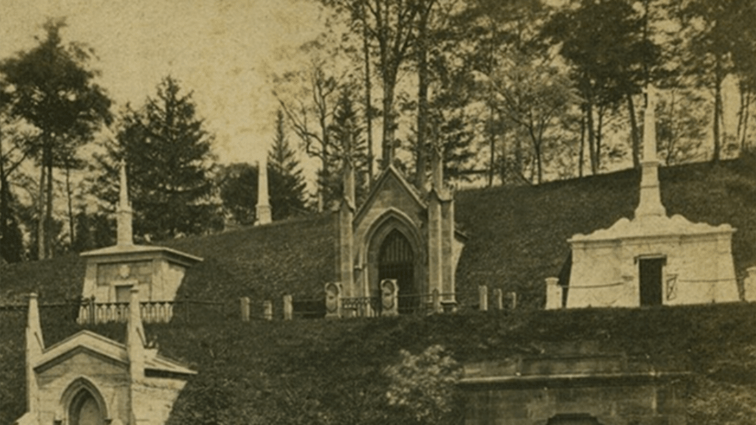 A view of Green-Wood Cemetery circa 1870s, Green-Wood Instagram