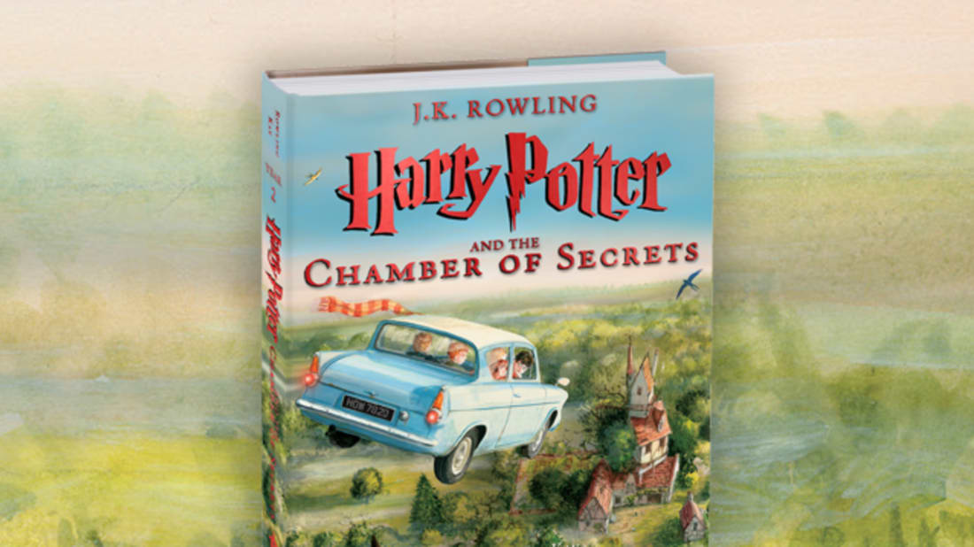 Cover of Harry Potter and the Chamber of Secrets by J.K. Rowling, Illustrated by Jim Kay.