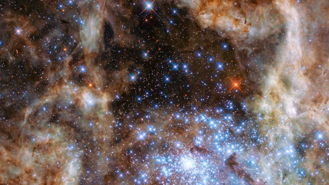 """Central region of the Tarantula Nebula."" NASA, ESA, P Crowther (University of Sheffield)"