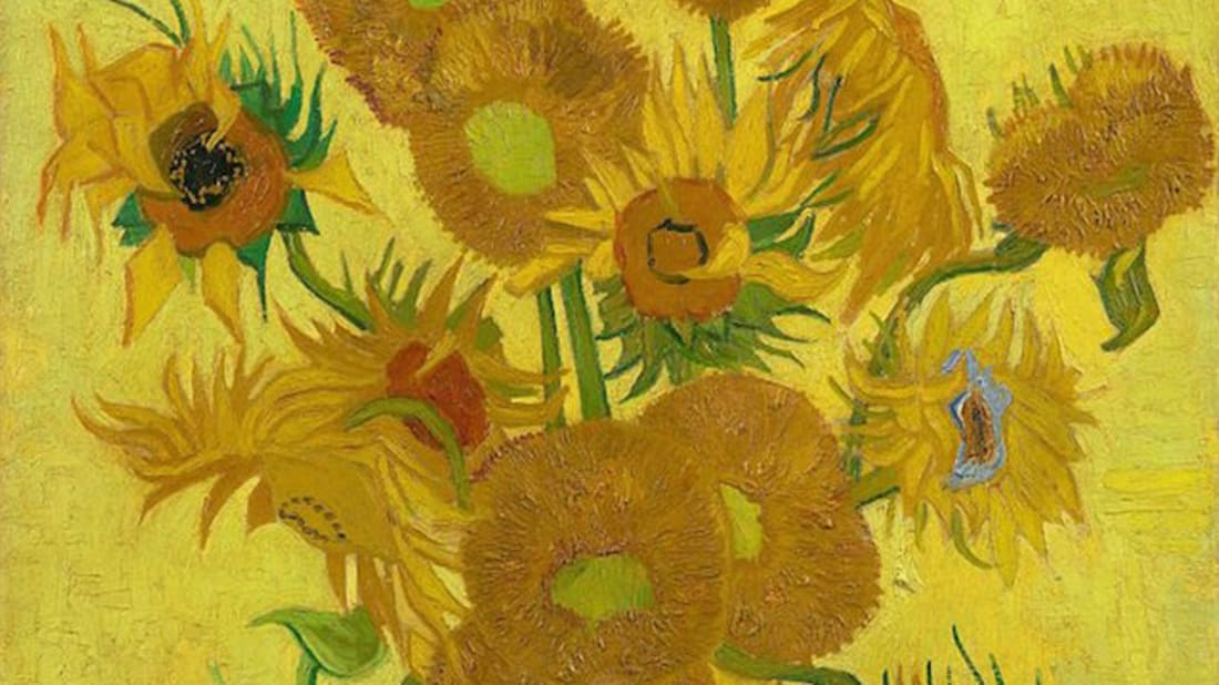 "Vincent van Gogh, ""Sunflowers"" (1889) Public domain, via Wikimedia Commons"