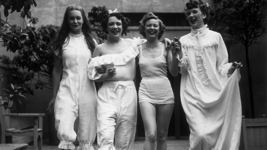 1930s underwear models. Getty