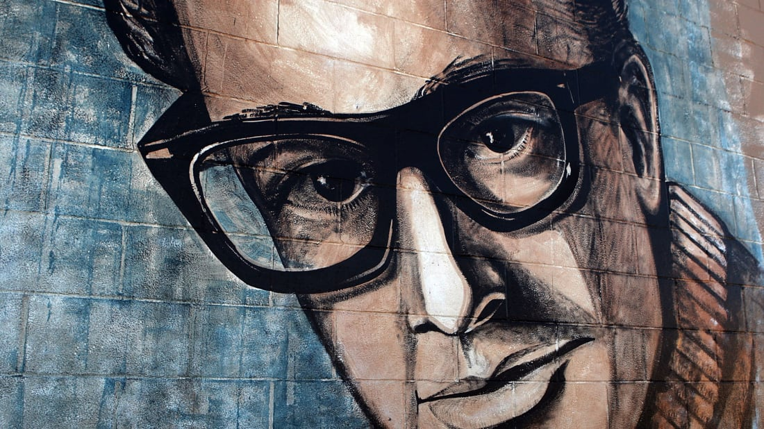 Buddy Holly Mural in Lubbock, Texas // Getty Images