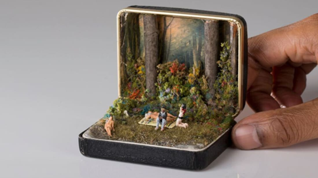 This Artist Makes Incredible Mini-Dioramas From Old Ring Boxes