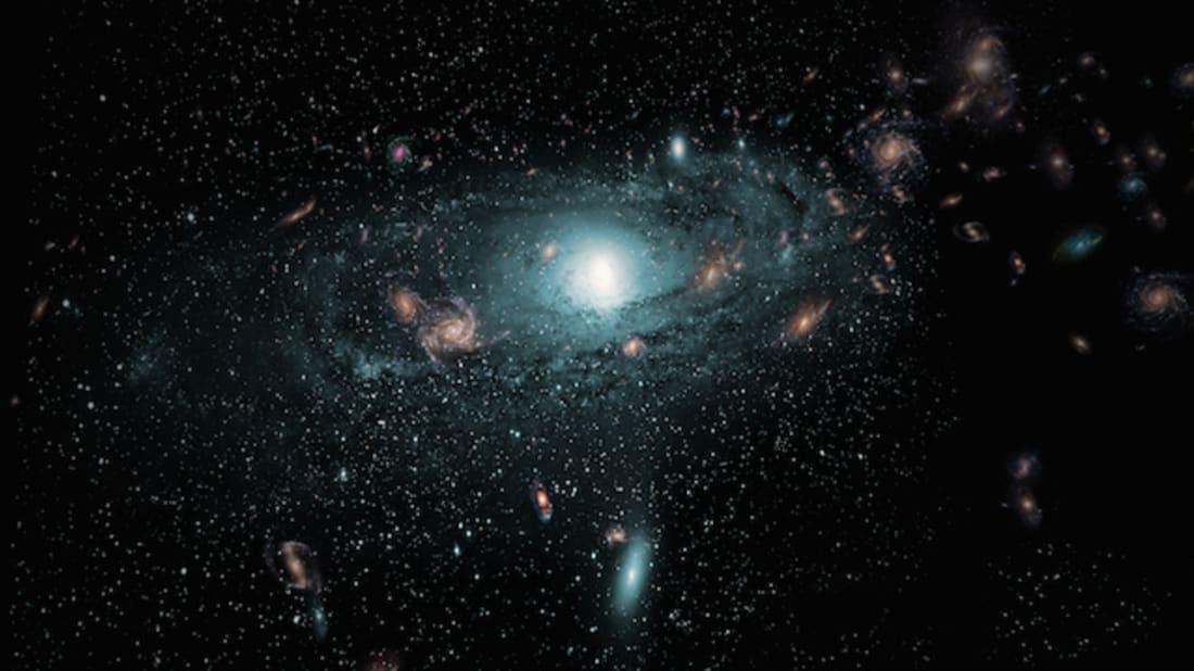 Artist impression of the hidden galaxies // ICRAR