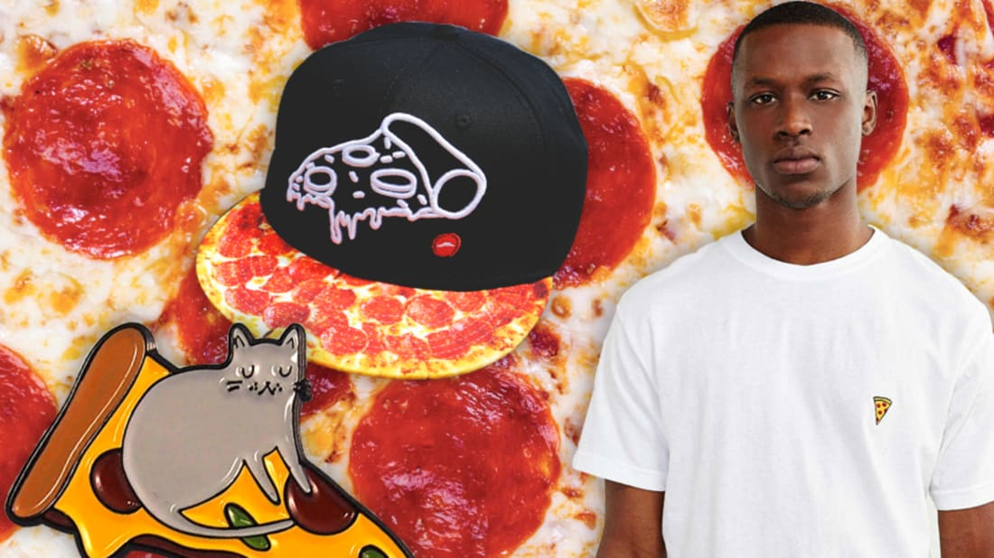 iStock (pizza background), pizza hut (hat), etsy (pin), urban outfitters (shirt)