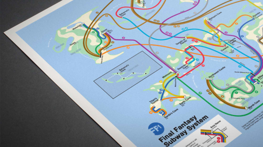 Cool Posters Reimagine NES Video Game Worlds as Subway Maps | Mental ...