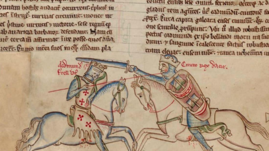 """Battle of Assandun, showing Edmund Ironside (left) and Cnut the Great."" Image Credit: Wikimedia Commons // Public Domain"